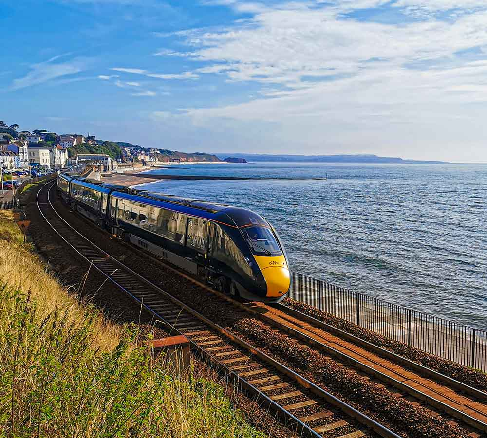 GWR IET at Dawlish on Riviera Line