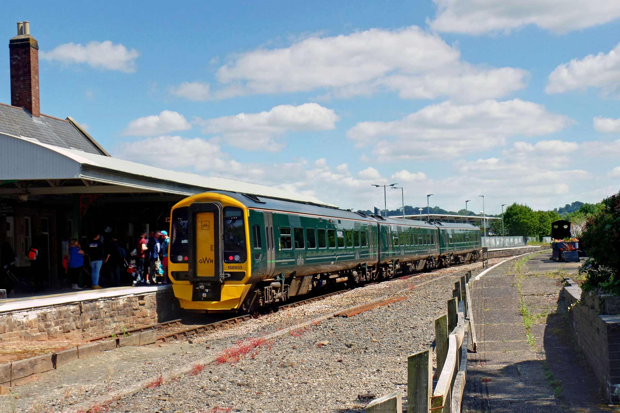 Class 158 train at Barnstaple station