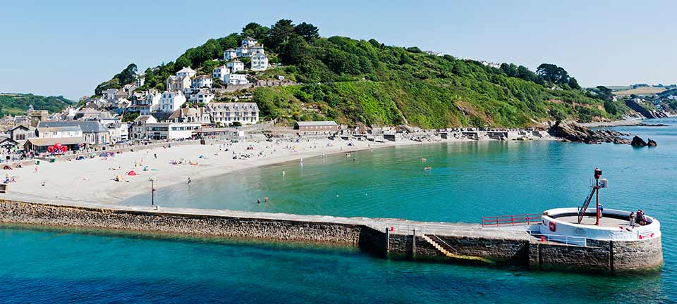 East Looe beach and the Banjo Pier