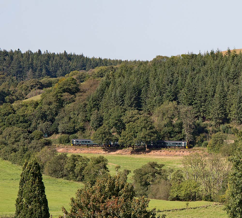 Train at Eggesford on Tarka Line