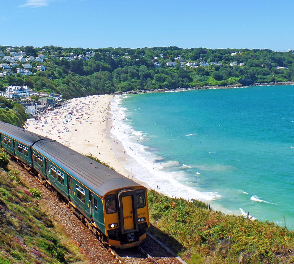 Carbis Bay, which is served by its own station - photo: Mark Lynam