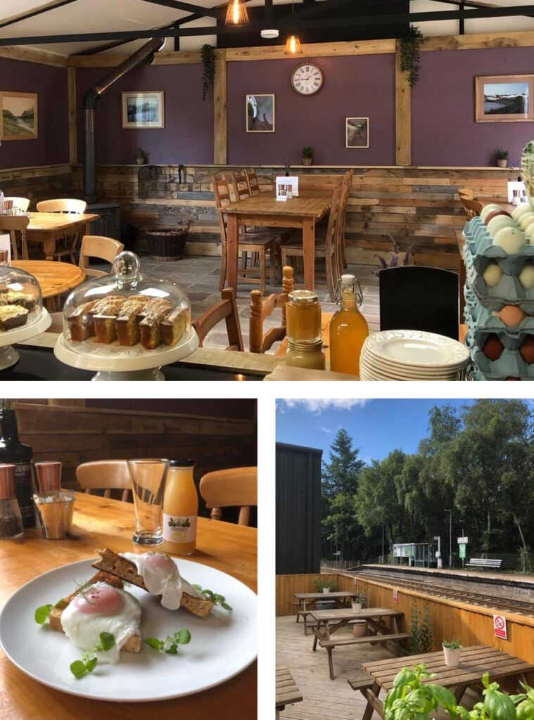 Eggesford Crossing Cafe - inside and out