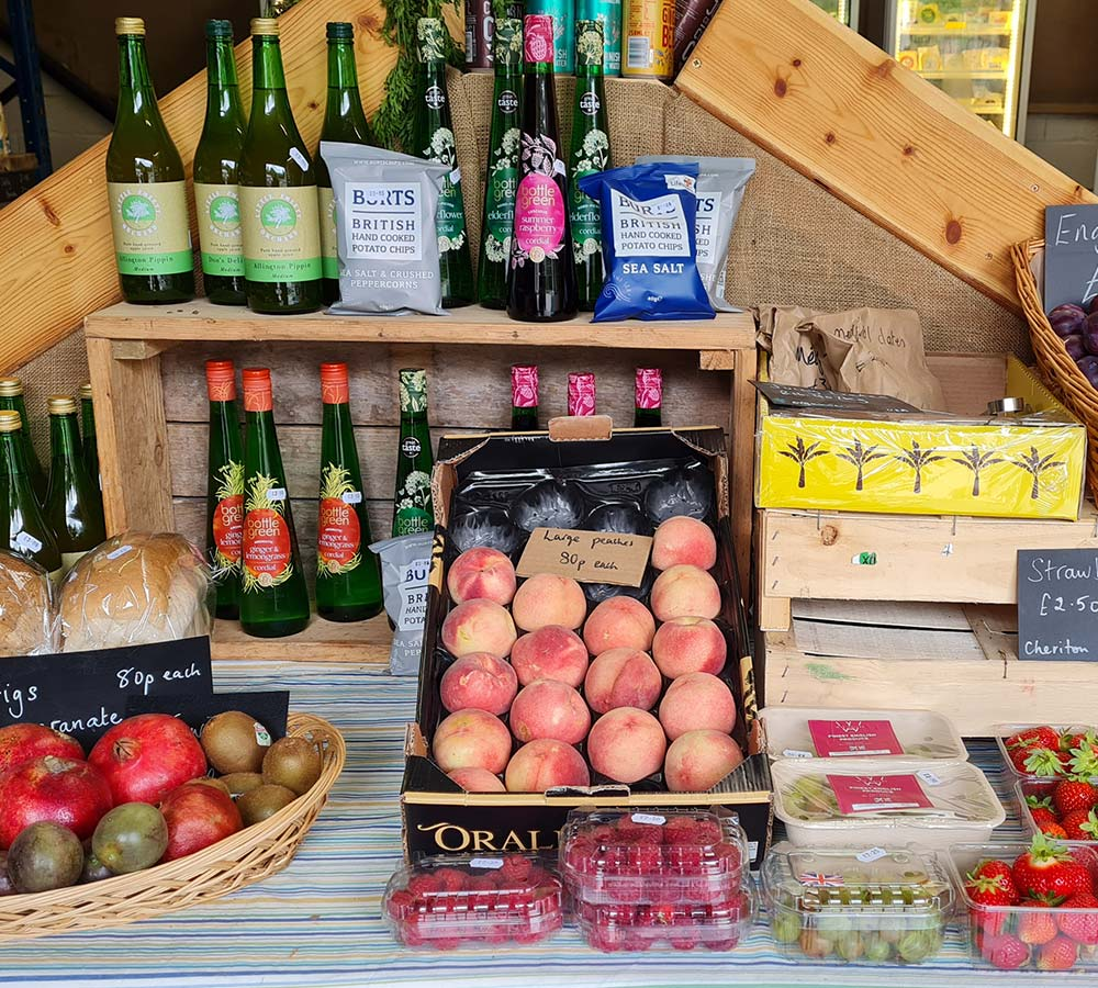 Local produce at Plant Shed and Farm Shop, Eggesford