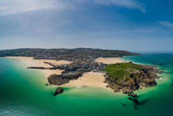 St Ives drone image