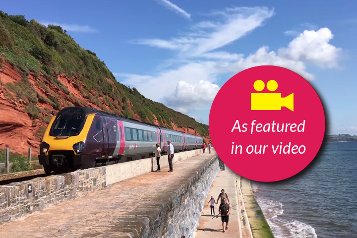 Dawlish sea wall as featured in our Facebook video