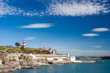 Smeaton's Tower (lighthouse) and The Hoe, Plymouth
