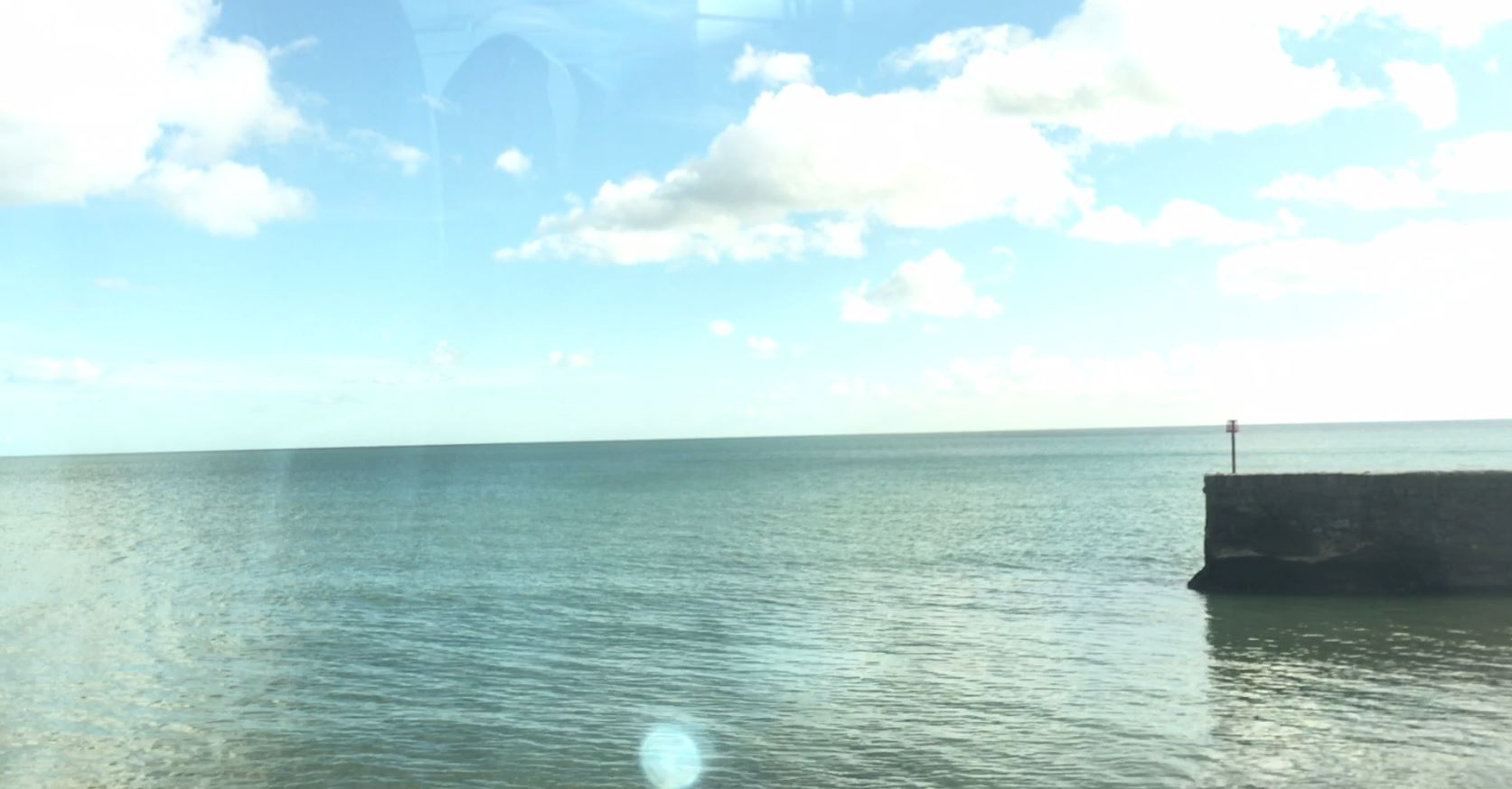 View from train at Dawlish