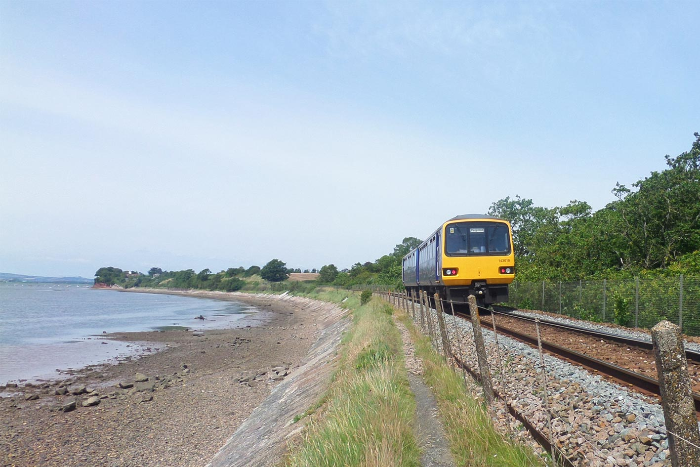 Image result for exeter to exmouth on the train