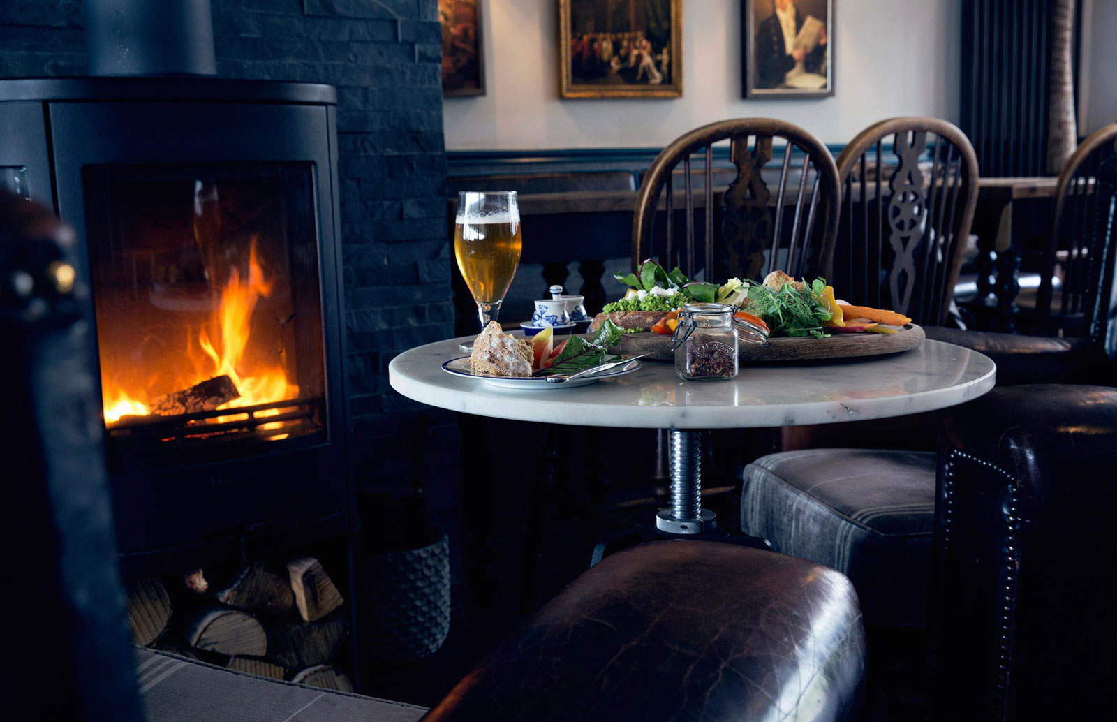 Fireside meal at the Star and Garter