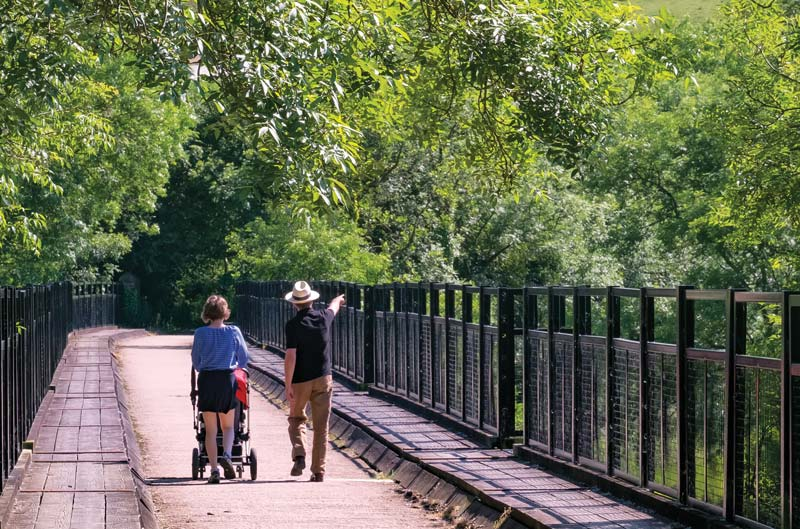 Family walking the Tarka Trail - photo by Stephen Ring