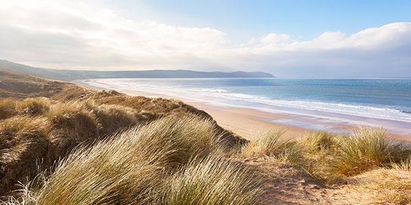 Woolacombe beach and dunes