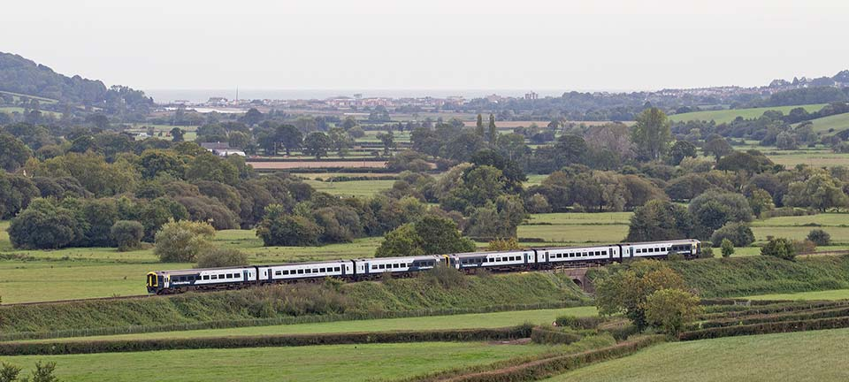 SWR train on East Devon Line