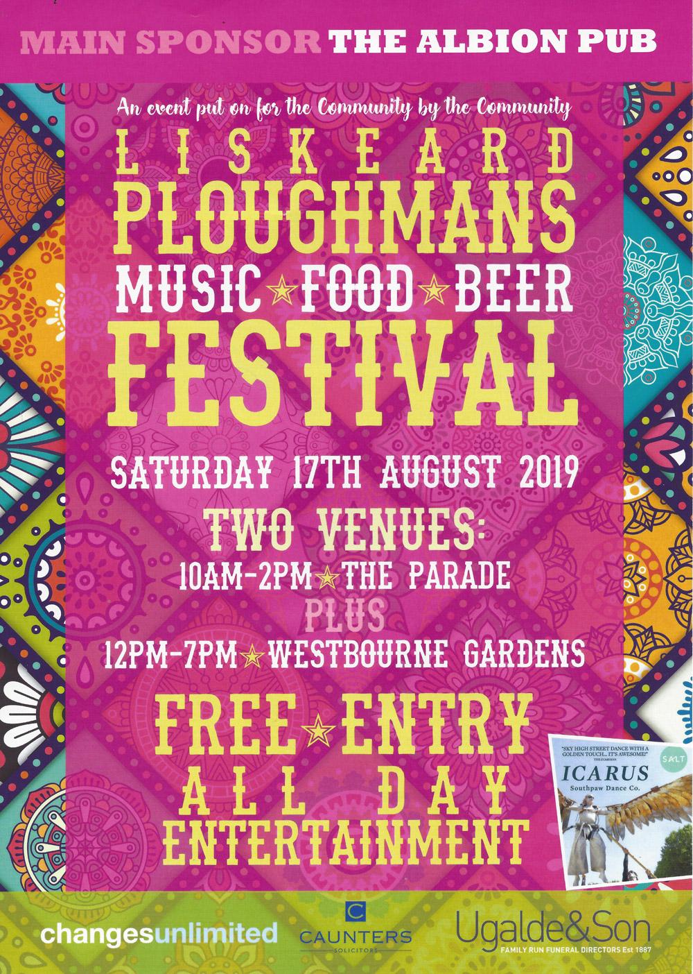 Ploughman's Festival poster 2019