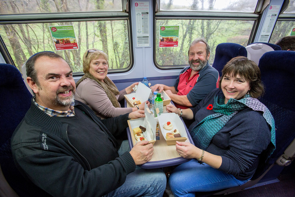 Passengers on the Munchtime Express