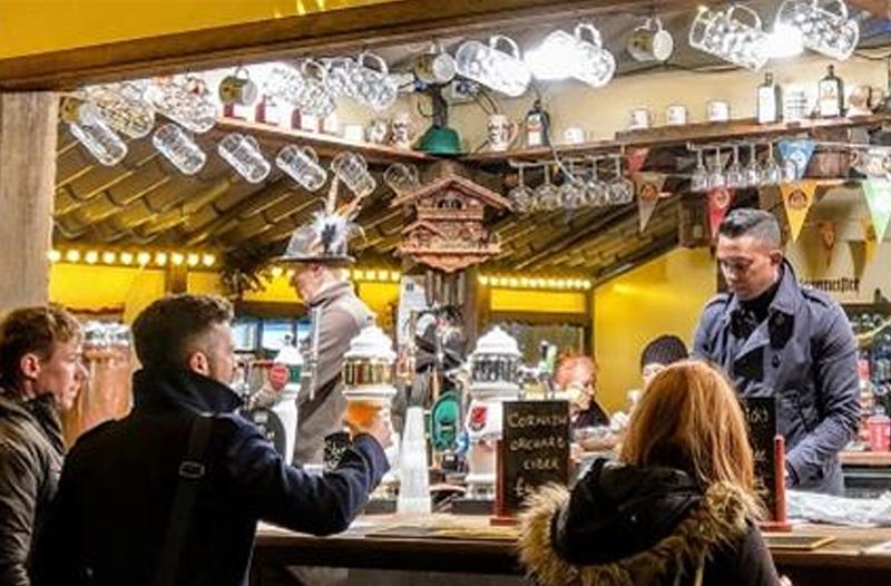 Bavarian bar at Plymouth Christmas market