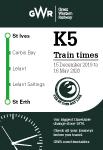 St Ives Bay Line pocket timetable cover - December 2019