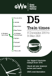 Tamar Valley Line timetable cover - December 2019