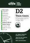 Tarka Line timetable cover - December 2019