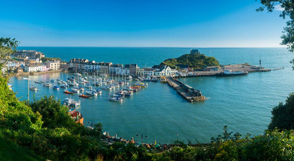 Ilfracombe harbour on sunny day