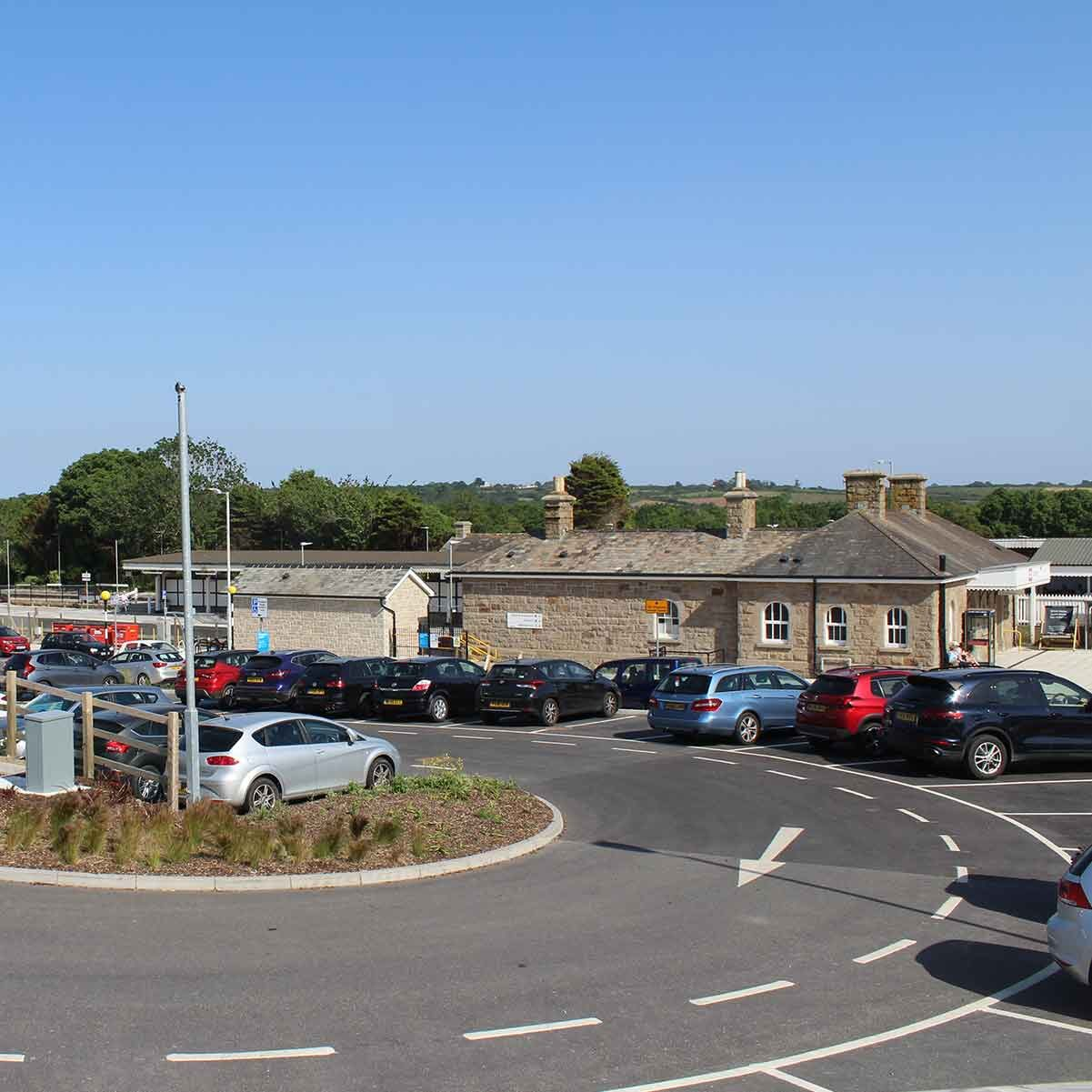 St Erth railway station's north car park