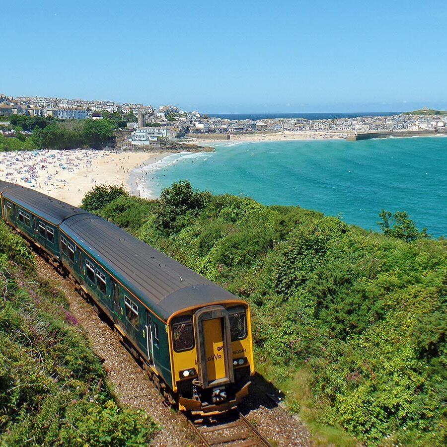 Train departing St Ives - photo: Mark Lynam