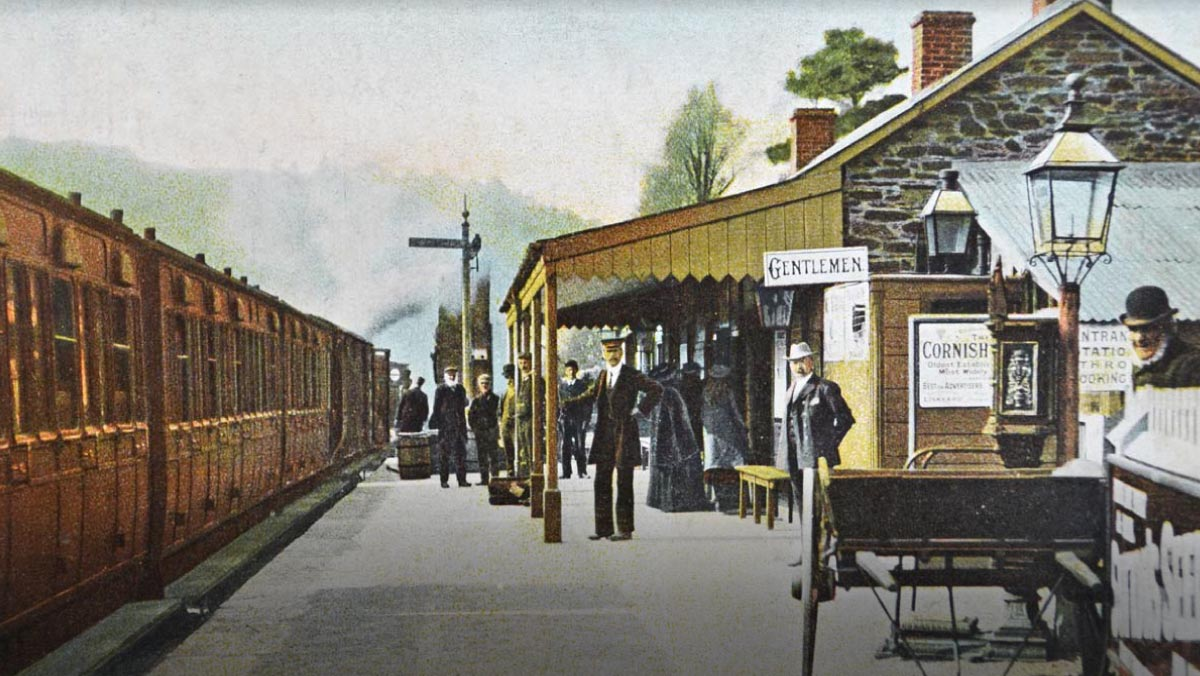 Looe station - courtesy of The National Archives