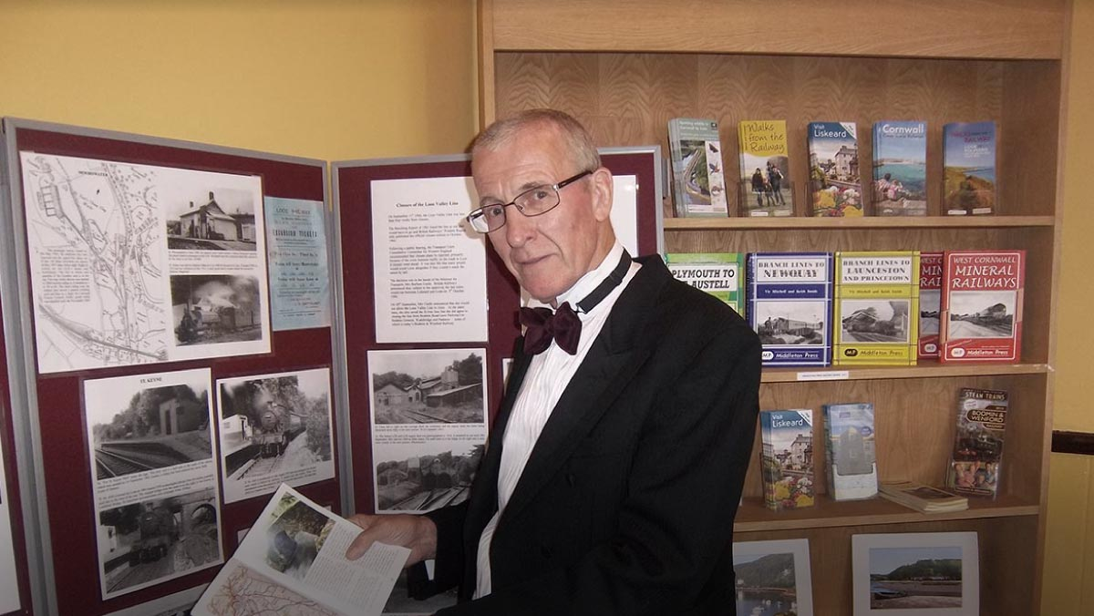 Volunteer at Liskeard station Platform 3 Information Centre
